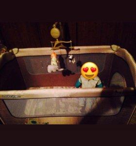 Складная кровать-манеж Babyton