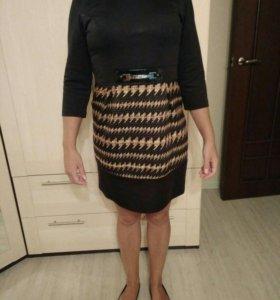 Чёрное платье 46 размер