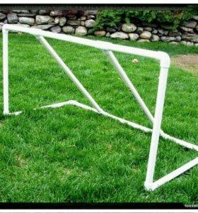 Детские футбольные ворота из ПВХ труб за 2 шт.
