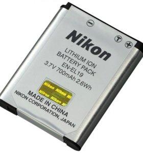 Новый аккумулятор nikon EN-EL19