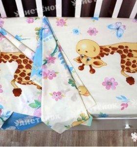 Комплект постельного в детскую кроватку