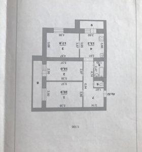 Квартира, 3 комнаты, 88.1 м²