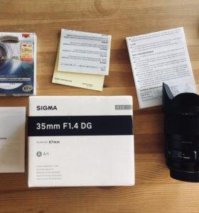 Sigma 35 mm 1.4 DG Art / Canon