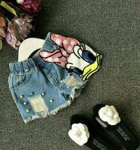 Очень милые джинсовые шортики.