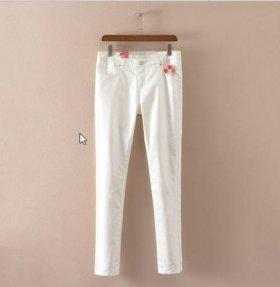 Летние брюки хлопок с покрытием! Высокая посадка