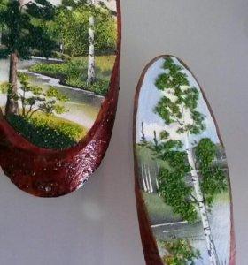 Панно / дерево