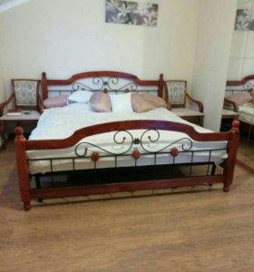 Кровать кованная .