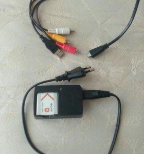 Новый аккумулятор с зарядником и кабелем