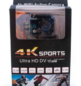 Экшн камера 4к sports с wi-fi.