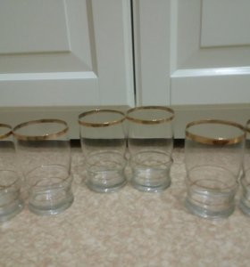 Продаются стаканы из стекла 6 шт.