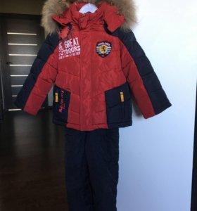 Зимний костюм для мальчика размер 104-110