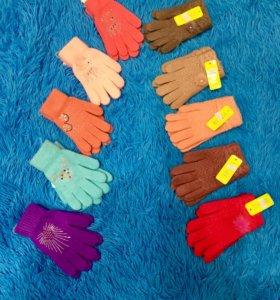Варежки перчатки не б/у