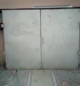 Ворота гаражные + дверь в гараж
