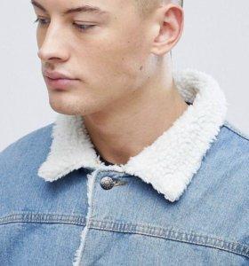 Джинсовая куртка на подкладке boohoo MAN