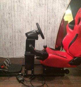 Продам игровой руль с креслом