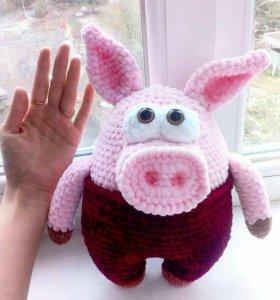 Вязаные плюшевые свинки