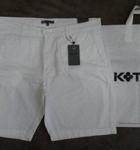 Новые мужские белые шорты Koton