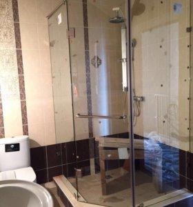 Угловая душ кабина из стекла
