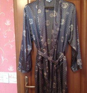 Шелковый халат, домашнее платье