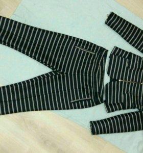 Костюм zara (жакет+брюки)