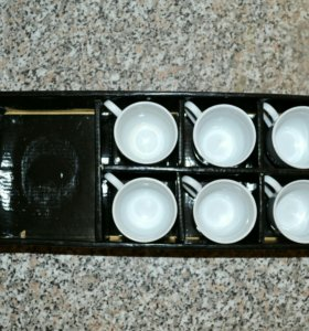 Набор (керамика) : 6 чашек + чайник