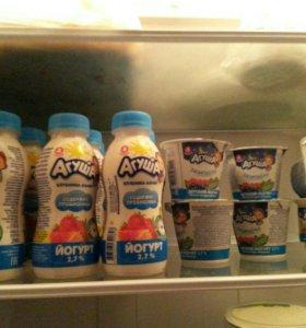 агуша творожки и йогурты