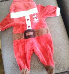 Продам костюм санты клауса на месячного малыша