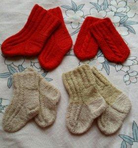 Носочки шерстяные и варежки