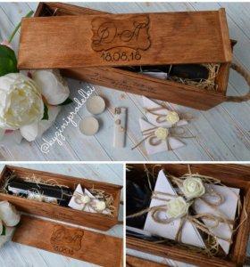 Ящик деревянный для винной церемонии