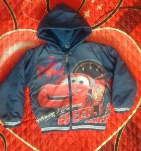 Куртка-ветровка на флисе