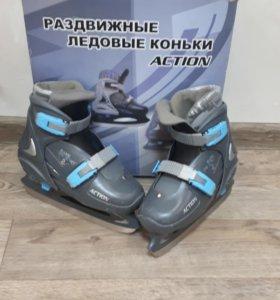Раздвижные ледовые коньки ACTION