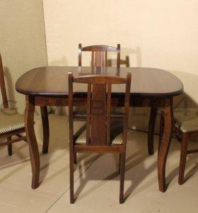 Раздвижной стол + 4 стула