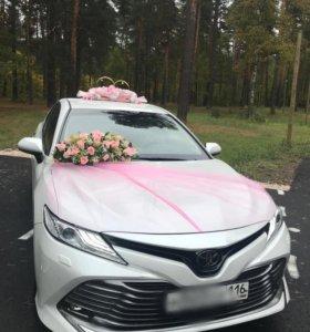 Свадебное украшение на авто / кольца на машину