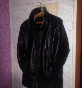 Куртка зимняя кожа зам новая
