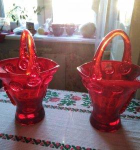 Продам 2 ваз очки стекло новые