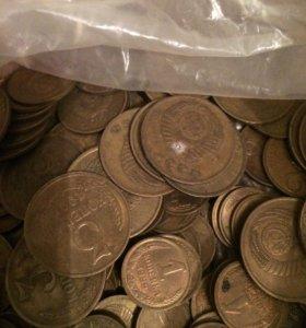Монеты 2 коп, 1 коп, 3 коп, 5 коп