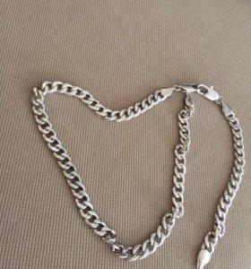 Серебряная цепь и браслет