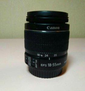 Объектив Canon EF-S 18-55mm. 3.5-5.6.