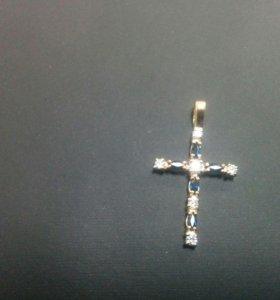Подвеска-Крестик Золото 585