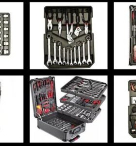 Набор инструментов 187 предметов в чемодане
