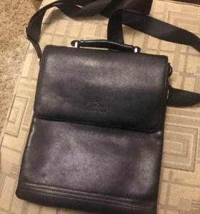 Кожаная сумка натур