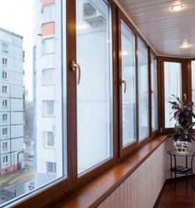 Отделка лоджии и балконов с остеклением!!!