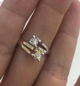 Бриллиантовое кольцо «Поцелуй».