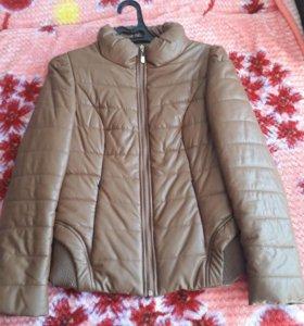 Куртка теплая кожанная