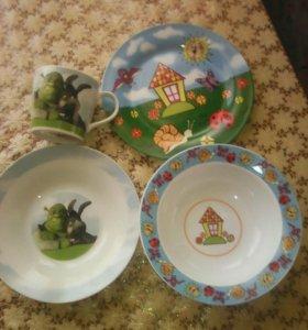 Детская посуда,фарфор