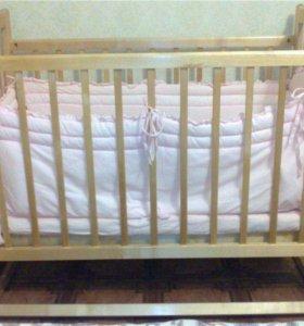 Кроватка Наша Мама + матрас