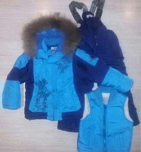 Зимний детский костюм тройка