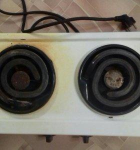 Плита электрическая, 2х комфорочная ,4 положения
