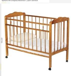Детская кровать с ортопедическим матрасом
