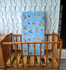 Кровать с матрасом+весь комплект+ подарок